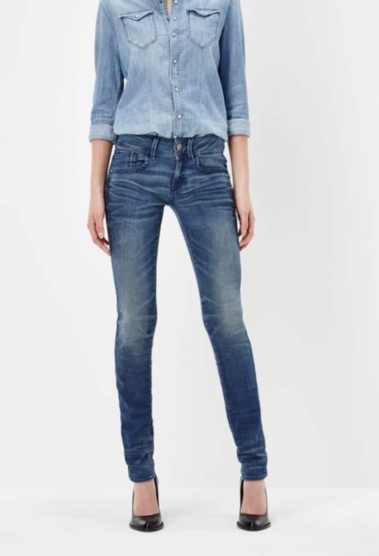 c0b74abe70f G-Star RAW: Lynn Mid Waist Skinny Jeans - Elevated Style