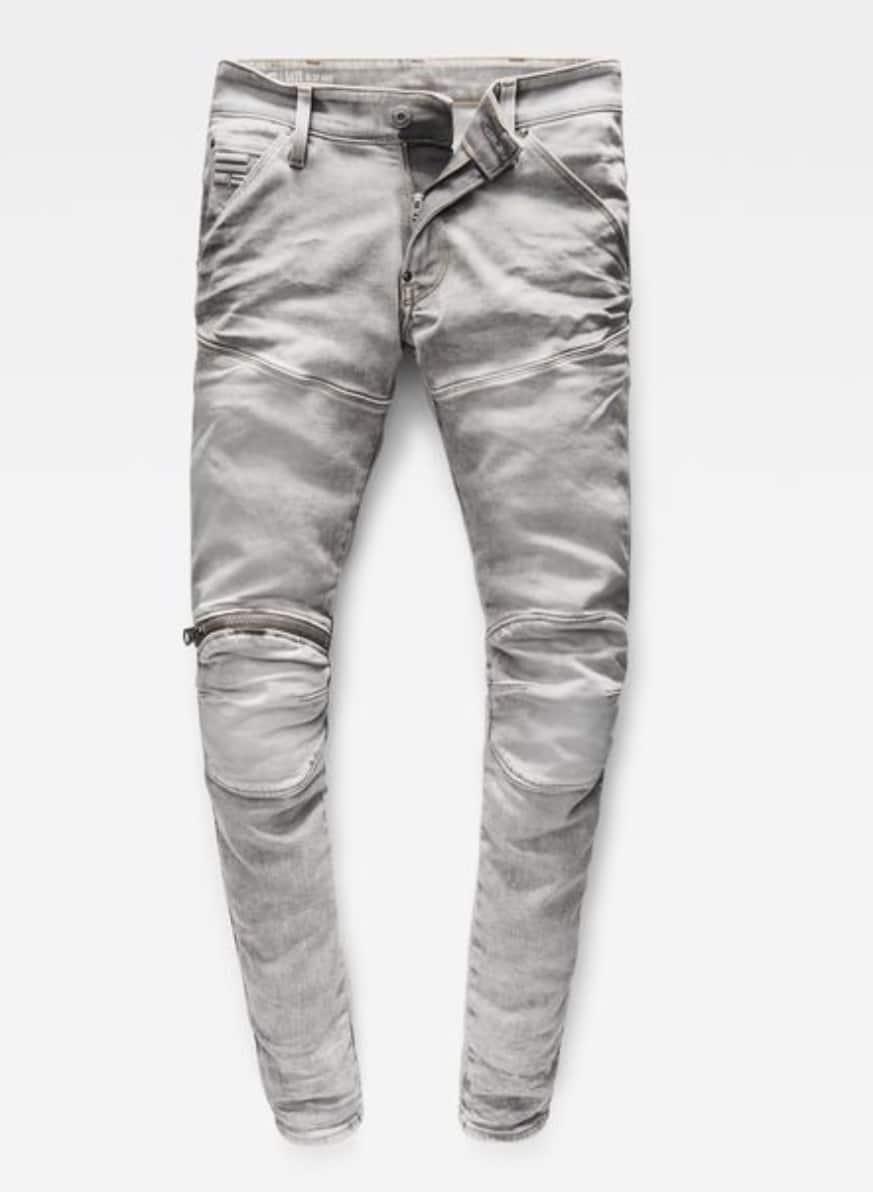 G-Star Raw Mens 5620 Knee Zip Superslim Jeans in Kamden Grey Stretch