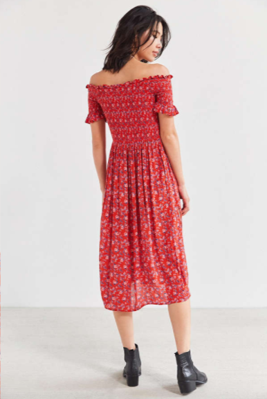 e2dd2df6c Urban Outfitters: Kimchi Blue Off-The-Shoulder Smocked Dress ...